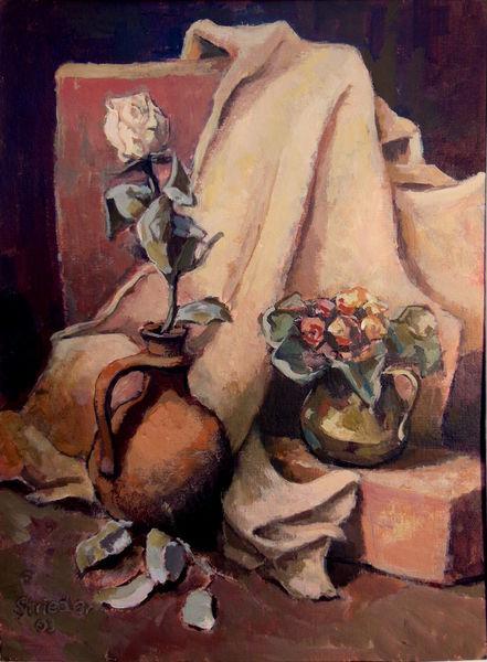 Herbst rose, Malerei, Rose