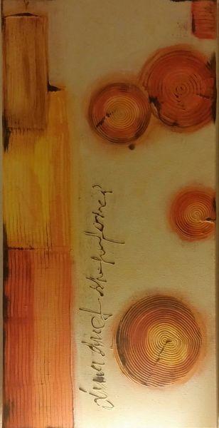 Acryl spachtel, Natur, Mischtechnik, Malerei, Sonnig