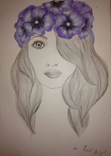 Bleistiftzeichnung, Blumen, Copic, Zeichnungen, Kraftvoll,