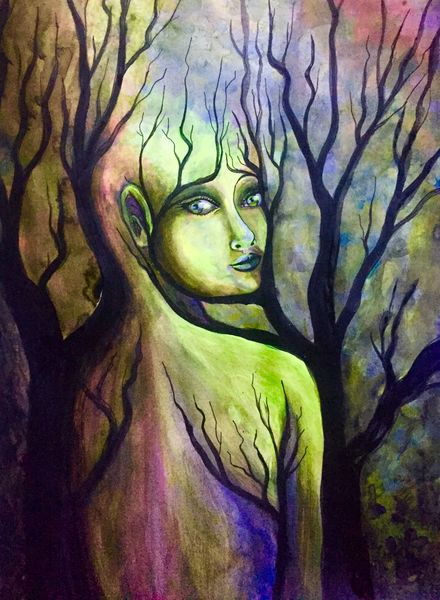 Kopf, Augen, Natur, Farben, Neon, Wurzel
