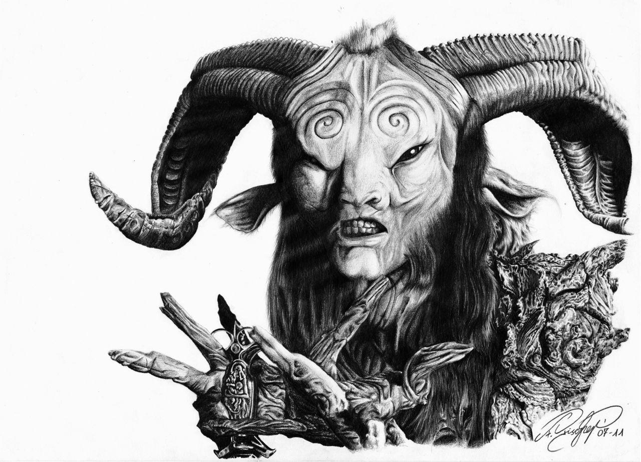 Bild: Labyrinth, Zeichnen, Horn, Fantasiewesen von Blaze88 ...