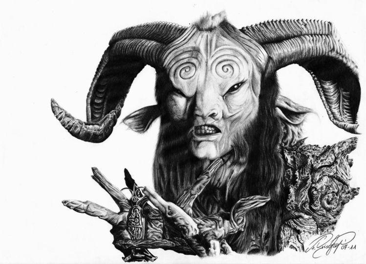 Labyrinth, Zeichnen, Fantasie, Horn, Zeichnung, Zeichnungen