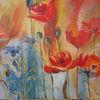 Mohn und Kornblumen - wiesen, Blumen, Sommer