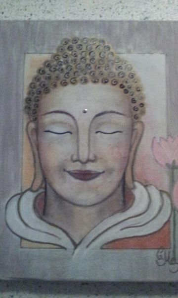 Buddha, Mischtechnik,