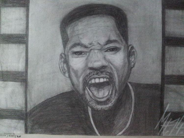 Mann, Zeichnung, Schauspieler, Aggression, Will smith, Men in black
