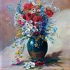 Blumen, Weiß, Rot, Margariten