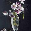 Mohnblumen, Pink, Vase, Glasvase
