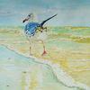 Meer, Vogel, Strand, Aquarell