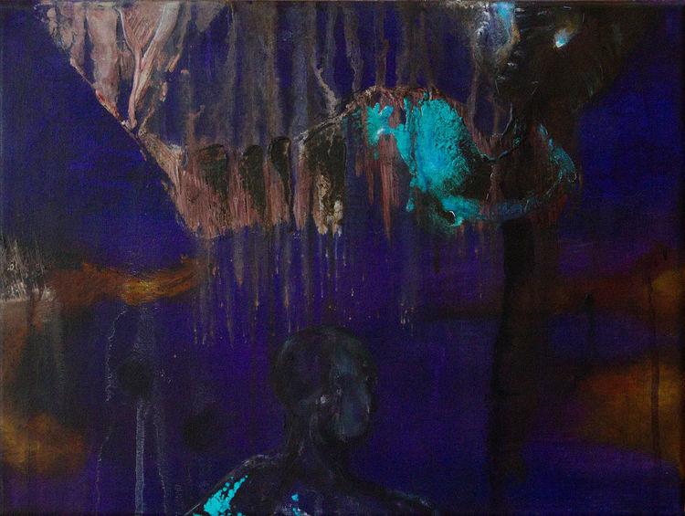 Umbruch, Zwischenfall, Regen, Vorfall, Malerei