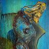 Grün, Blau, Trauer, Malerei