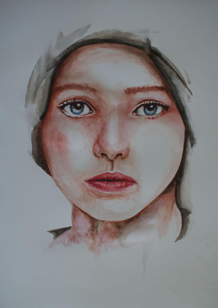ot  jung gesicht aquarell von jomas bei kunstnet