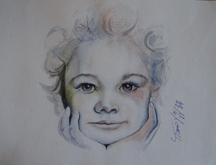 Gesicht, Aquarellmalerei, Augen, Fotografie, Bleistiftzeichnung, Malerei