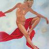 Gemälde, Akt, Frau, Malerei