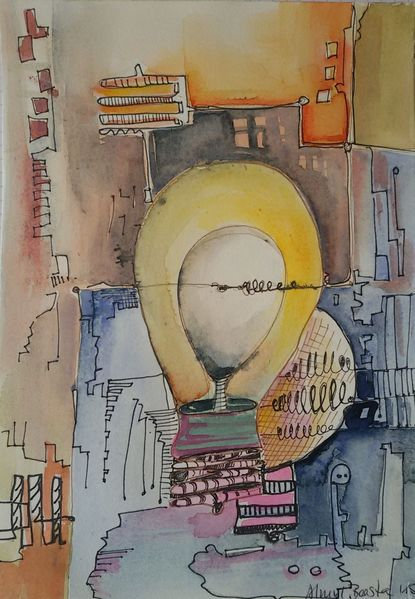 Licht, Lampe, Draht, Illustrationen, Stillleben,