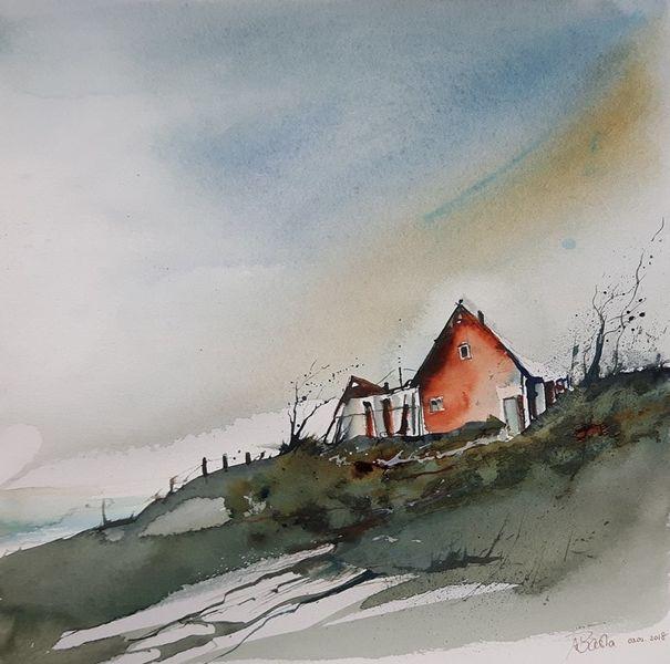 Klippe, Himmel, Hütte, Sturm, Haus, Landschaft