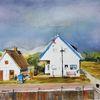 Häuser, Insel, Hiddensee, Weiß