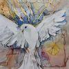 Taube, Vogel, Malerei, Aquarell