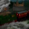 Dampflok, Zug, Burg, Eisenbahn