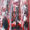 Wasserfall, Rot schwarz, Malerei,