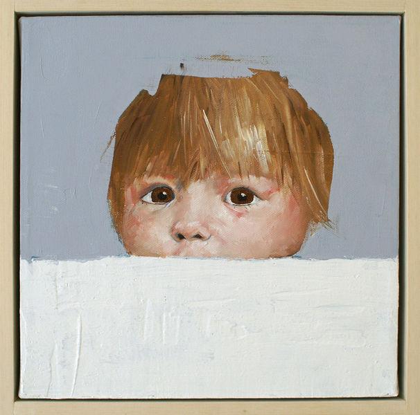 Kinderportrait, Zeitgenössisch, Augen, Blick, Portrait, Kind