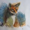 Aquarellmalerei, Tiere, Fuchs, Aquarell
