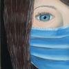 Frau, Person, Maskieren, Maske