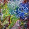 Abstrakt, Braun, Spachtel, Blau