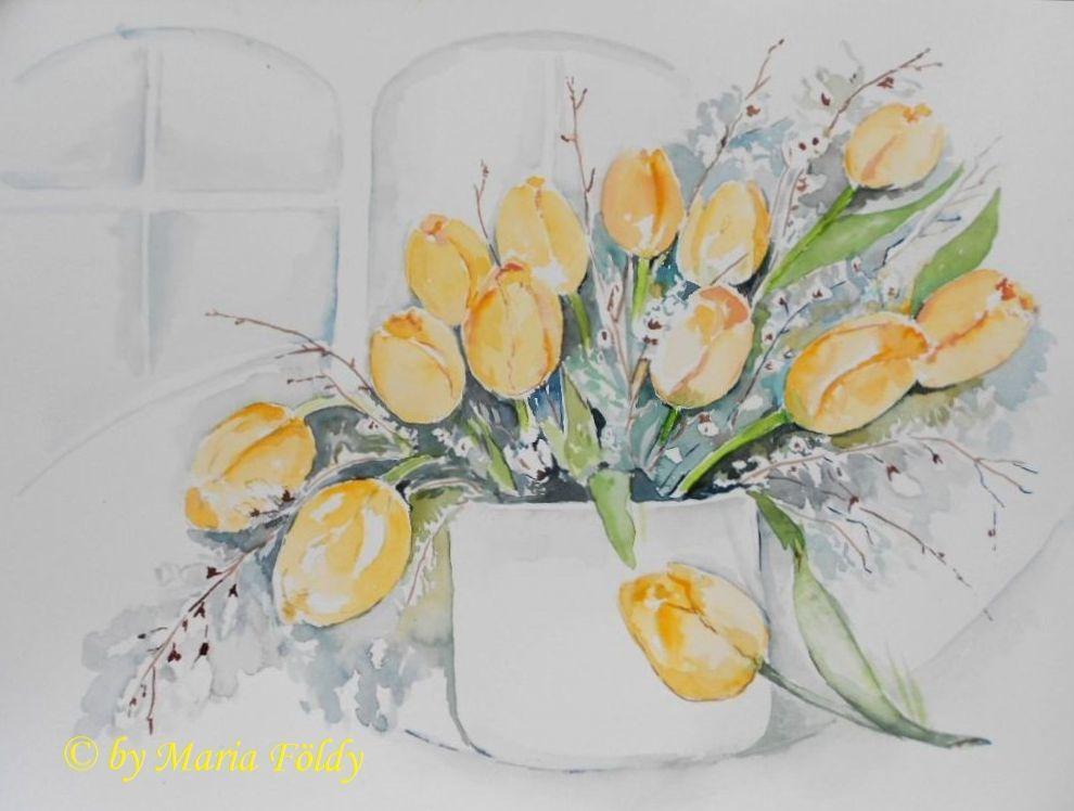 bild tulpen pflanzen blumen garten von maria f ldy bei. Black Bedroom Furniture Sets. Home Design Ideas