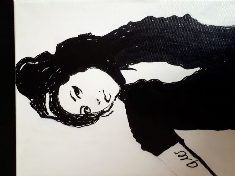 Acrylmalerei, Amy winehouse, Malerei, Amy,