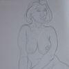 Akt, Zeichnung, Sitzen, Zeichnungen
