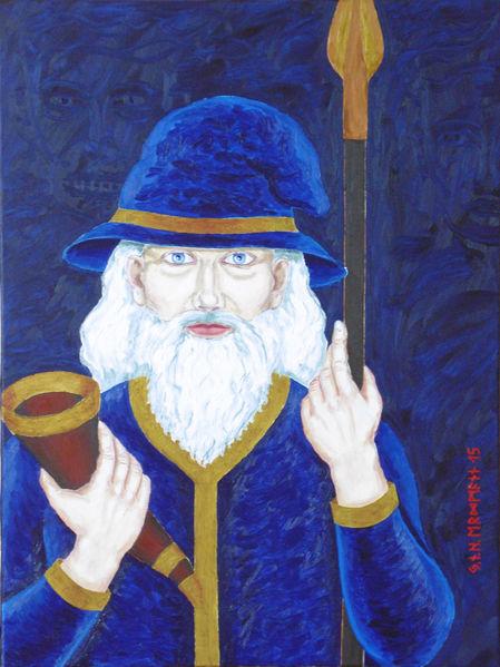 Symbolismus, Germanisch, Odin, Malerei, Wodan, Figural