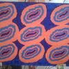 Acrylmalerei, Blaukomplementäre, Wurm, Malerei