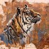 Tiger, Wildtier, Katze, Malerei