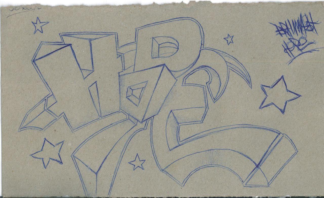 bild graffiti schrift stern zeichnungen von 8r41nw45h. Black Bedroom Furniture Sets. Home Design Ideas