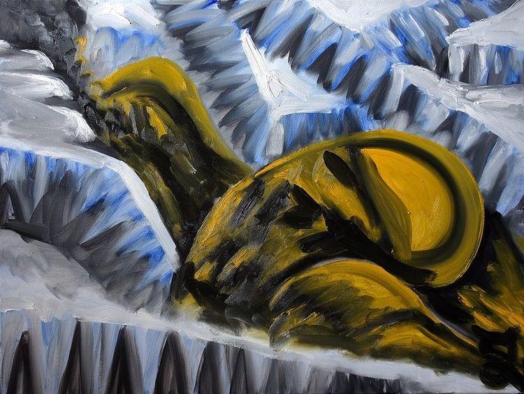 Eis, Fluss, Malerei,