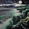 Rügen, Nacht, Nordstrand, Malerei