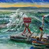 Sassnitz, Ostsee, Wind, Malerei
