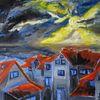 Häuser, Sonne, Merkelstraße, Wintersonne