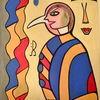 Modern, Acrylmalerei, Farben, Abstrakt