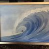 Ölmalerei, Figur, Wasser, Karton