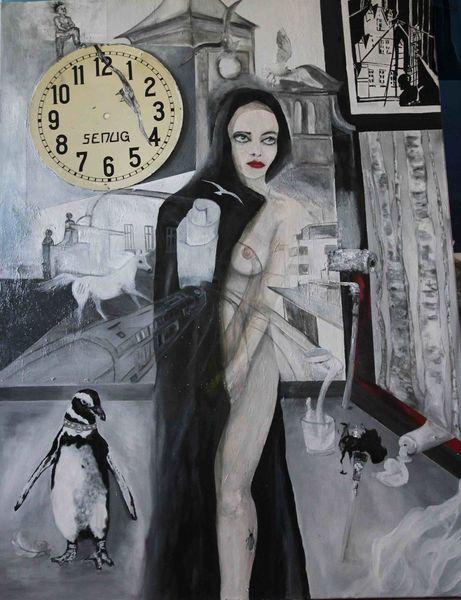 Landschaft, Libertas, Acrylmalerei, Abstrakt, Frau, Portrait