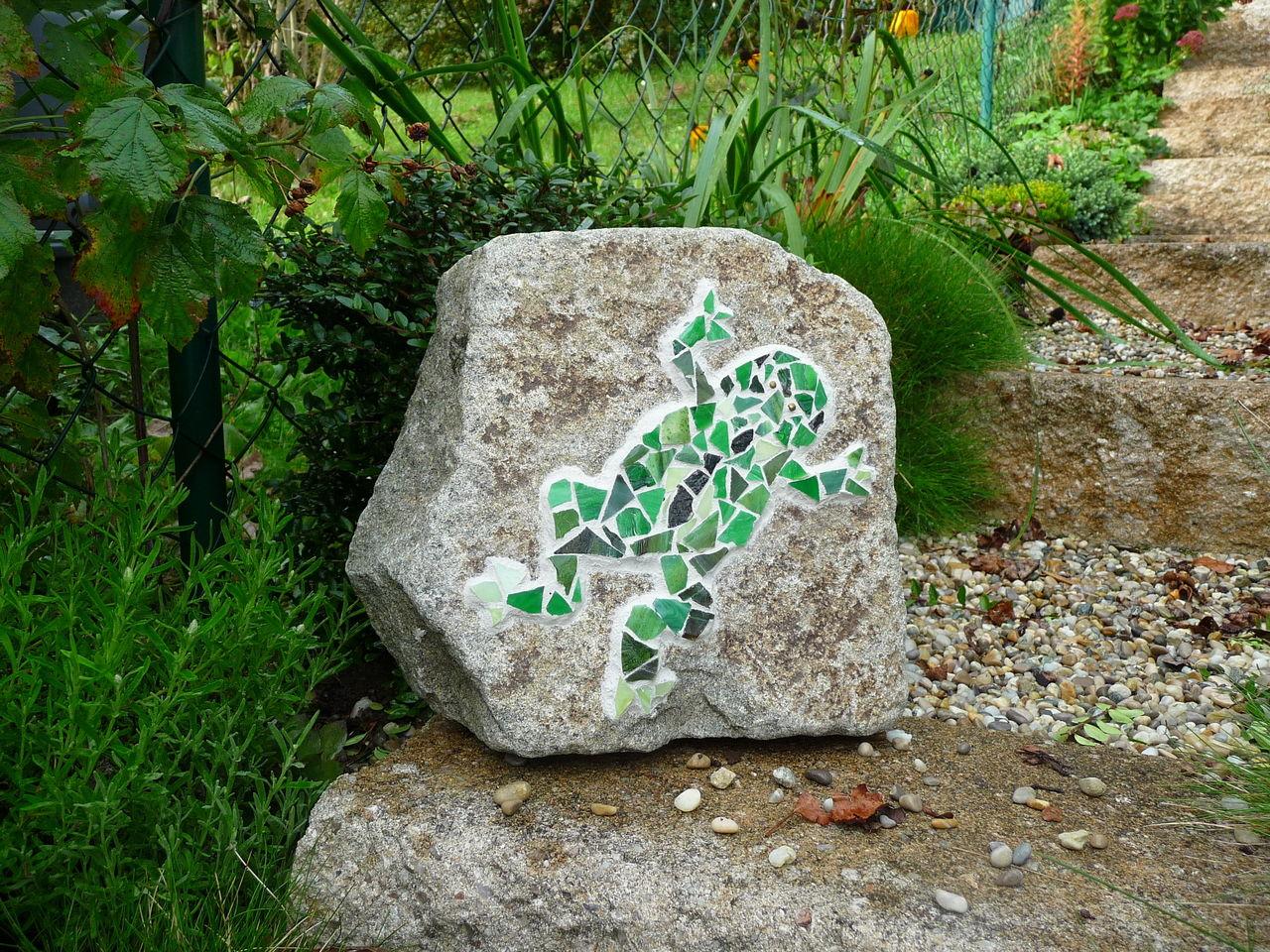 Fesselnde Mosaik Garten Referenz Von Frosch, Garten, Grün, Stein, Kunsthandwerk,