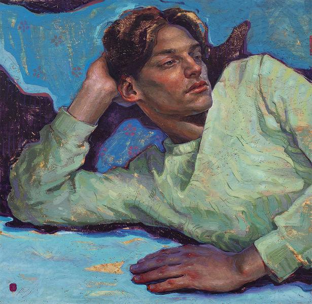 Portrait, Malerei, Jung, Ölmalerei, Realismus, Jüngling
