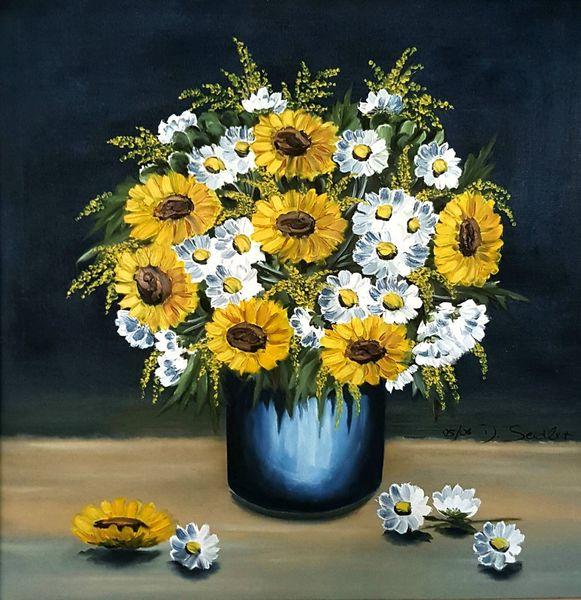Blumen, Strauß, Sommer, Malerei