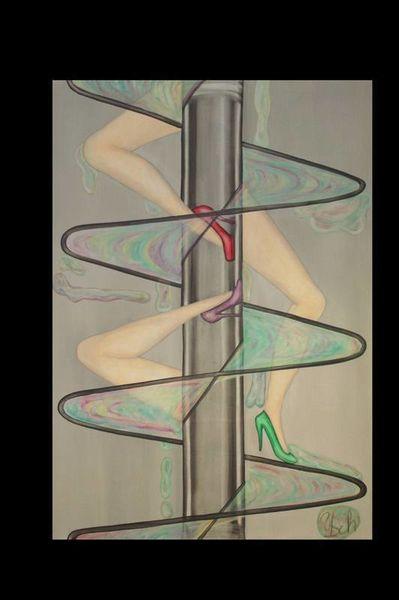Surreal, Malerei, Leinen, Ölmalerei, Bein, Seifenblasen