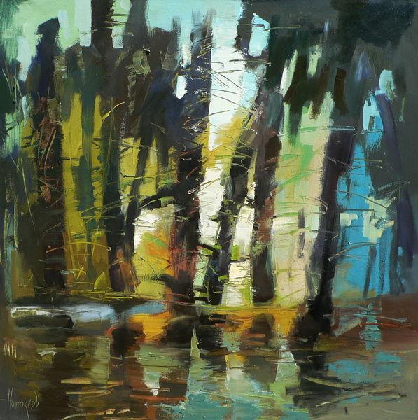 Ölmalerei, Gemälde, Abstrakt, Malerei,