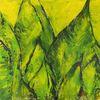 Blattwerk, Grün, Beige, Natur