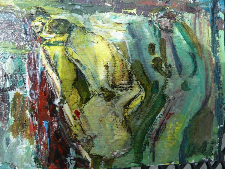 Menschen, Wasser, Flucht, Aufbruch, Malerei