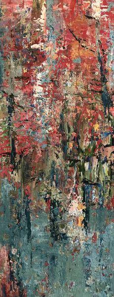 See, Bunt, Wald, Baum, Malerei, Herbst