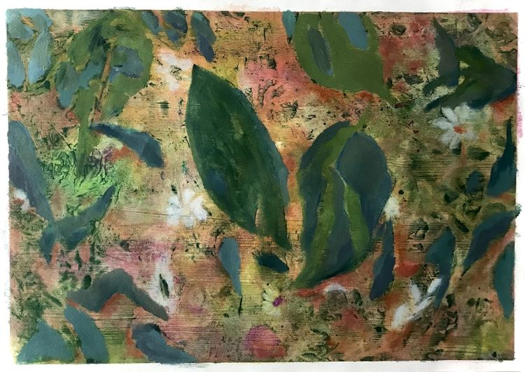 Blätter, Blumen, Frühling, Malerei